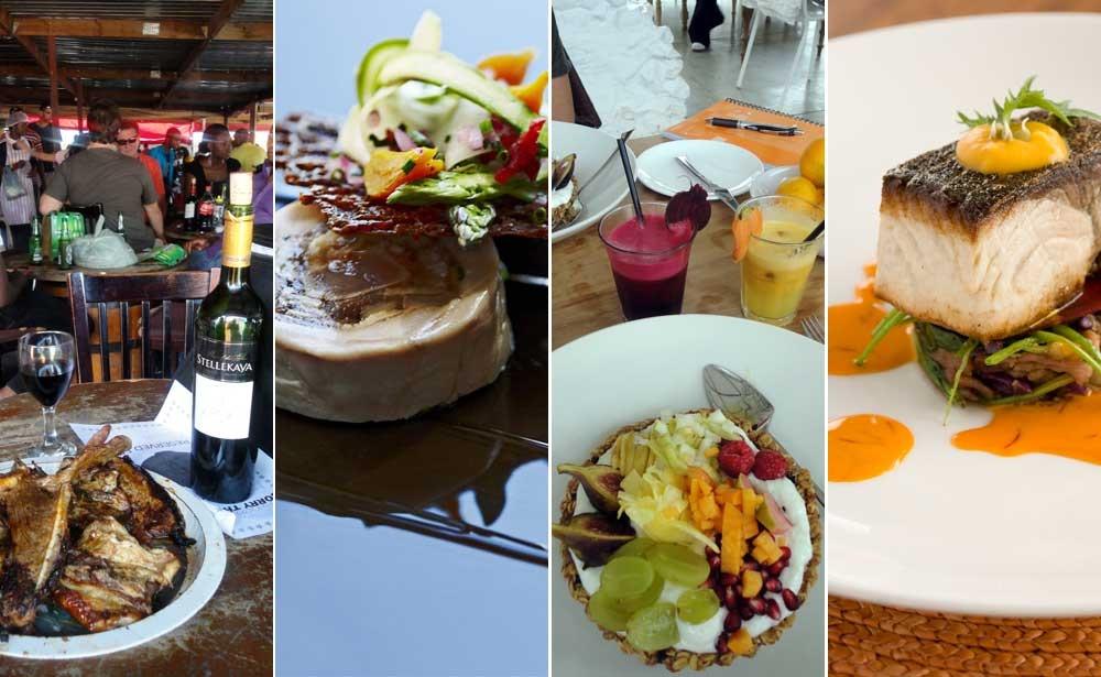 Gastronomía africana: Platos de Mzoli's, The tasting Room, Babel y Grootbos