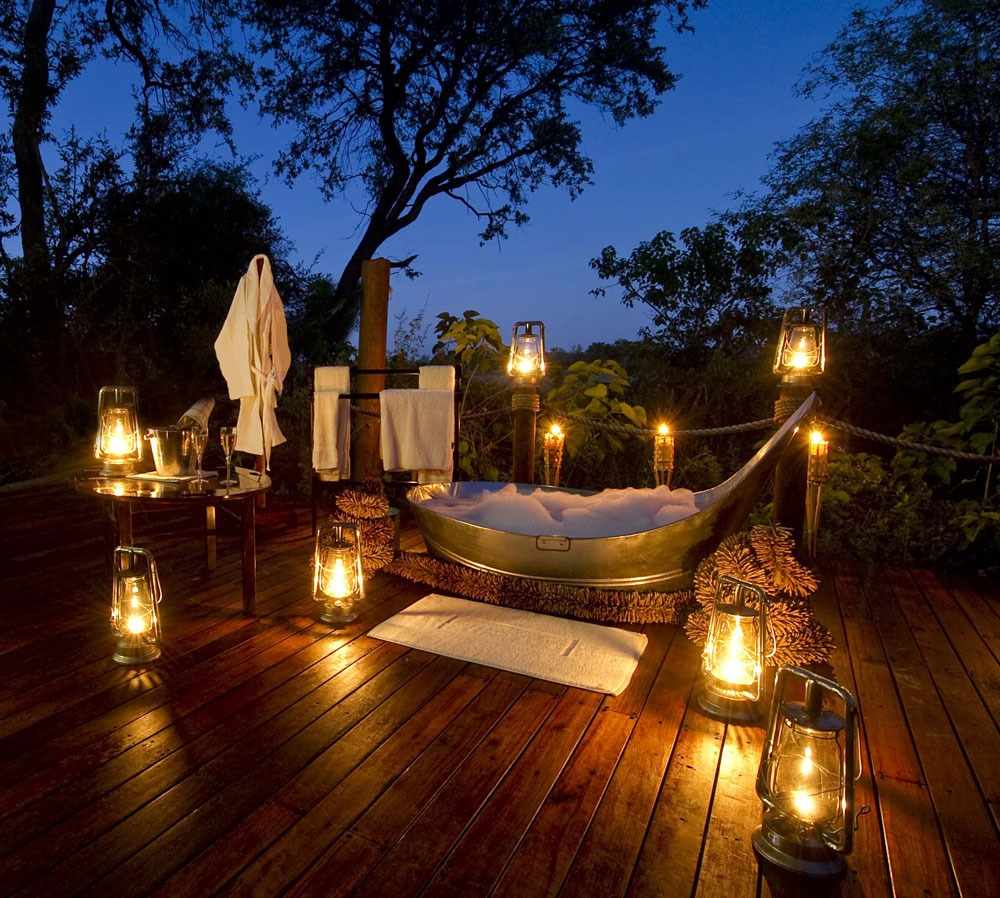 Baines Camp, Botswana bath african romantic pictures