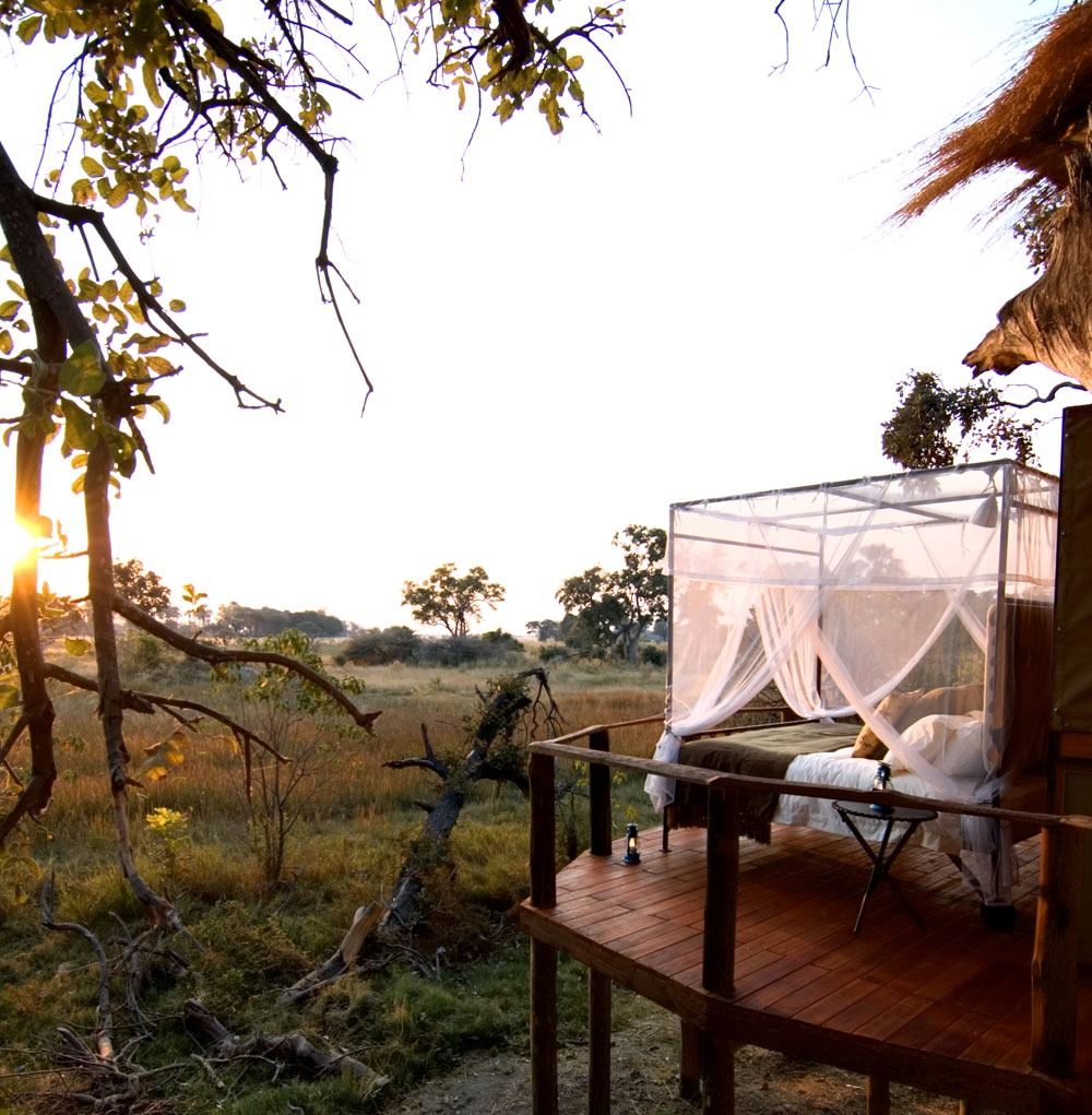 Baines Camp, Botswana star bed african romantic pictures
