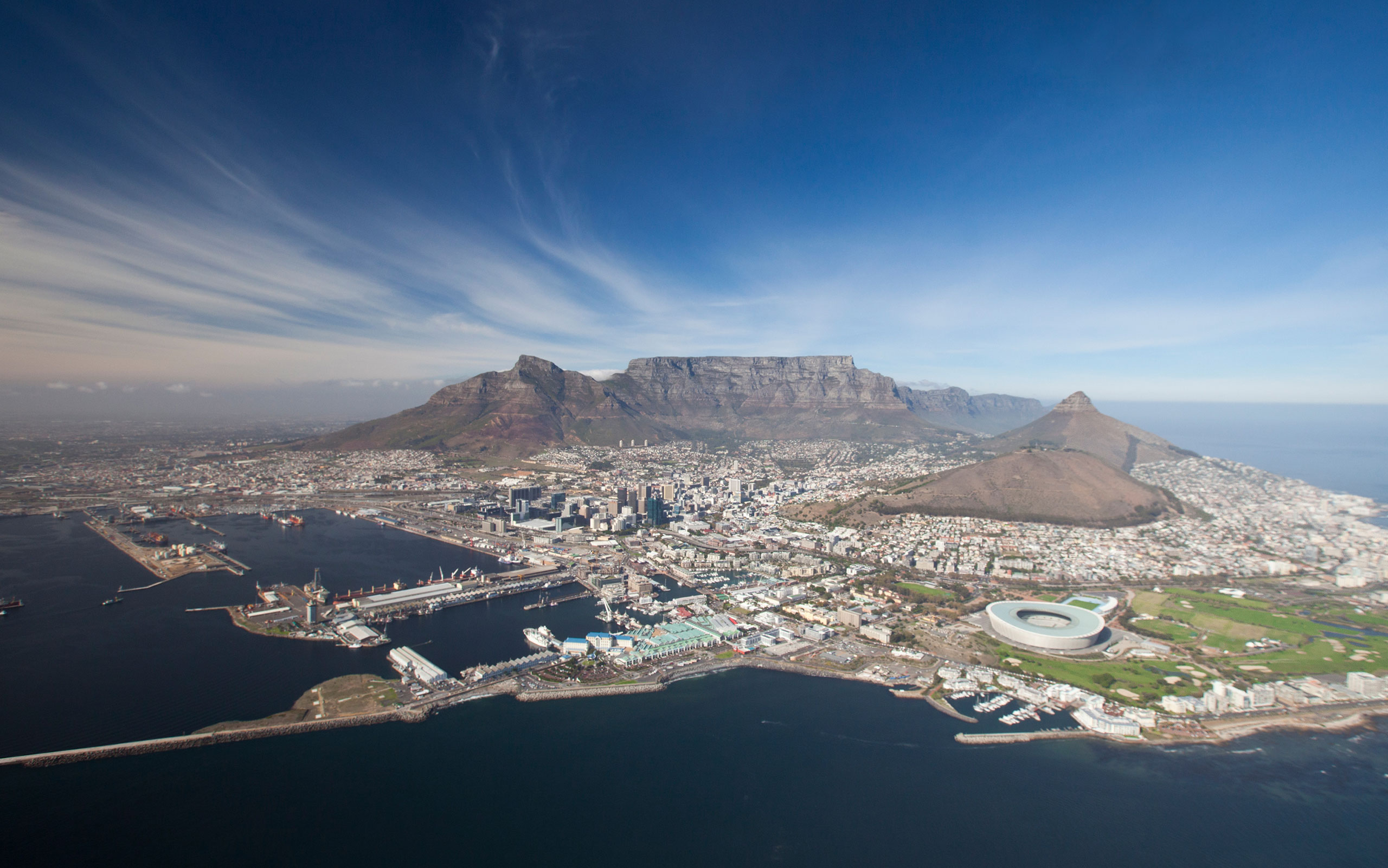 Cape Town Tourism Aerial view sudafrica ciudad del cabo enkosi africa