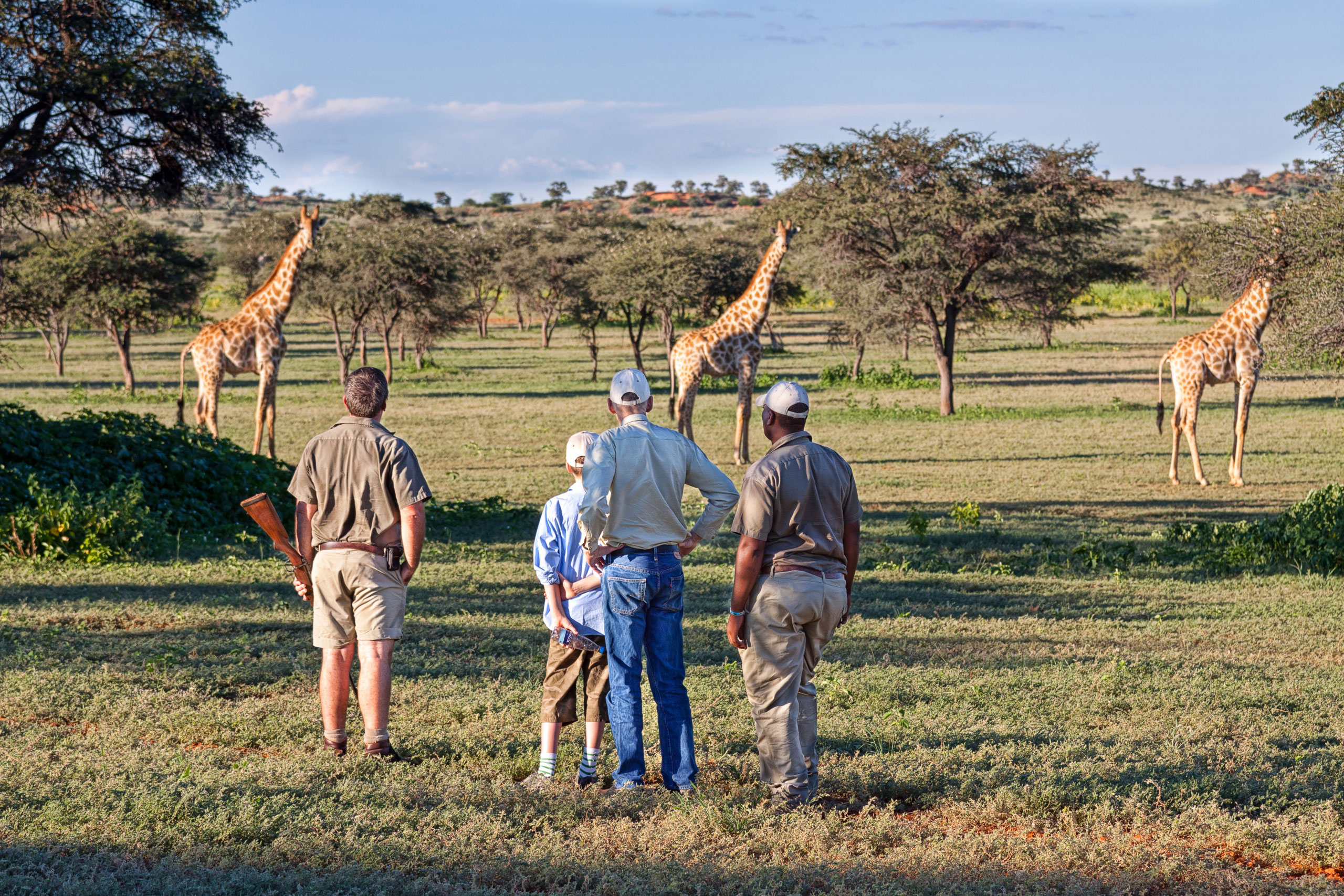Qué Haces En Un Safari enkosi-africa-tswalu-kalahari-walking