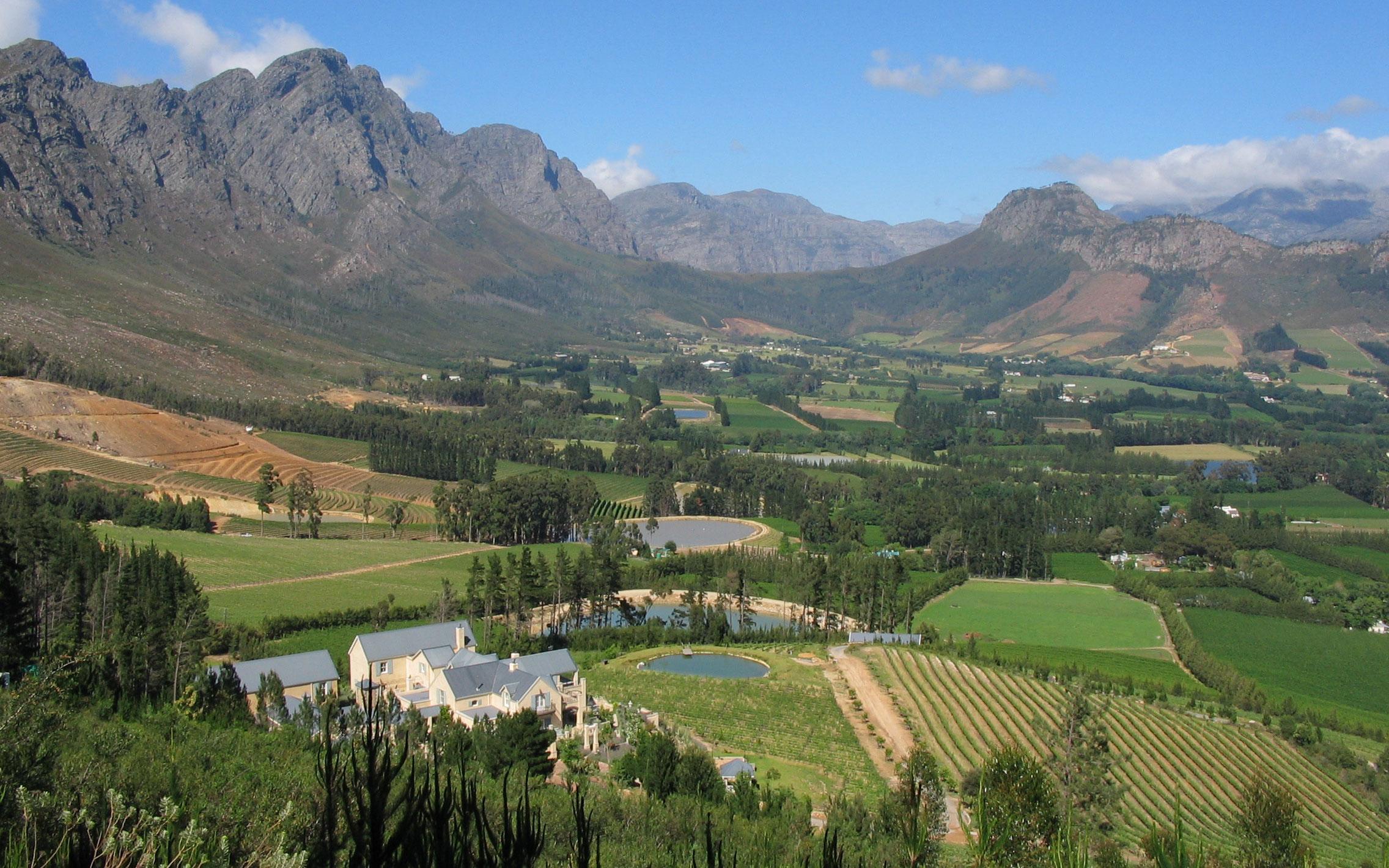 delaire graff franschhoek valley cape winelands region de los vinos del cabo enkosi africa sudafrica region de los vinos del cabo