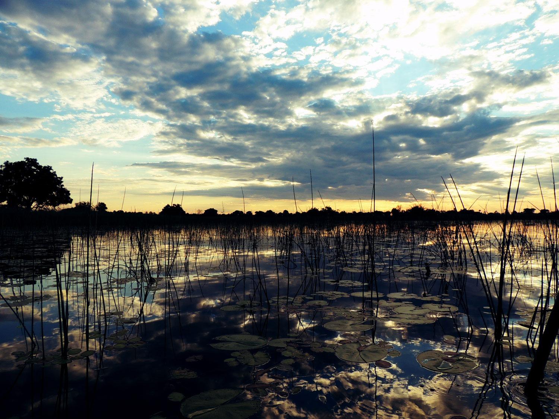 puesta sol sunset andbeyond xaranna mokoro delta okavango botswana enkosi africa