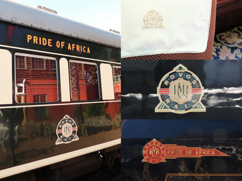 rovos rail enkosi train tren logo brand pride of africa