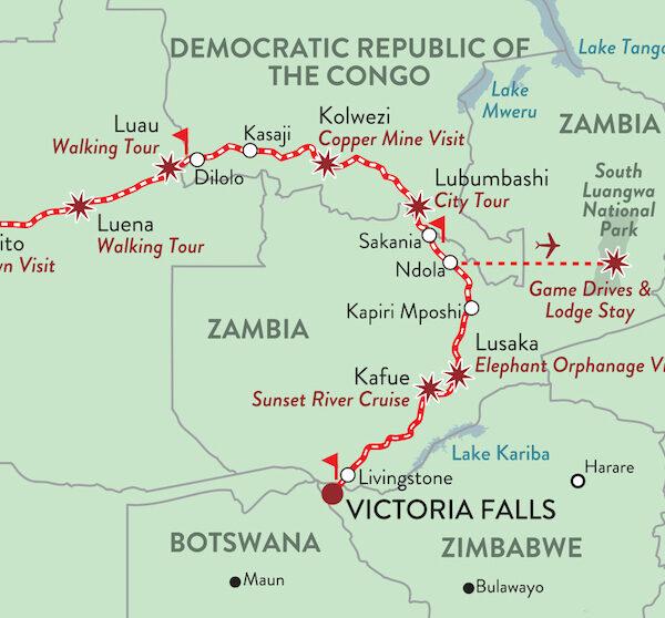 De las Cataratas Victoria a la Costa Atlántica en Tren con Rovos Rail